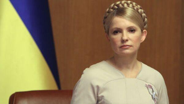 Premier Ukrainy Julia Tymoszenko podczas posiedzenia ukraińskiego rządu - Sputnik Polska