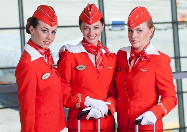 Stewardessy rosyjskiego Aeroflotu