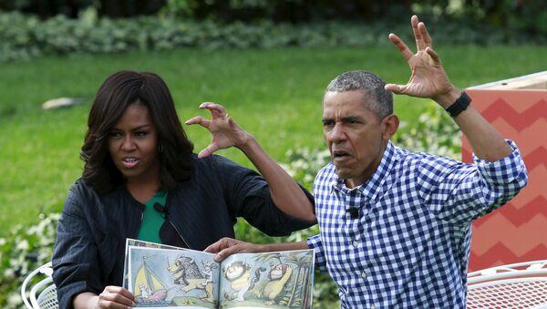 Barack i Michelle Obama - Sputnik Polska