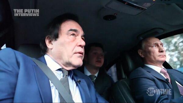 Kadr z filmu Olivera Stone'a Wywiad z Putinem - Sputnik Polska