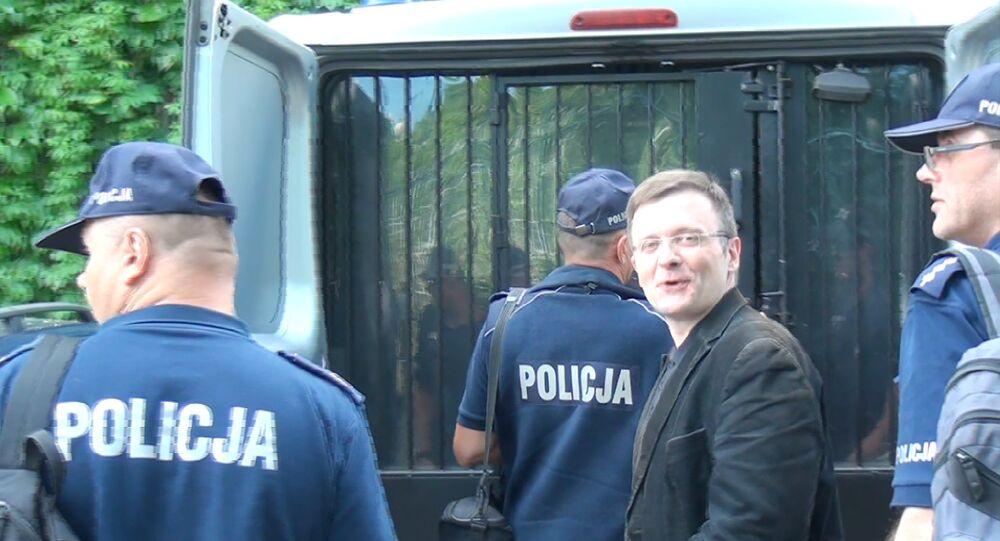 Mateusz Piskorski przed Sądem Apelacyjnym w Warszawie, 08.06.2017 r.