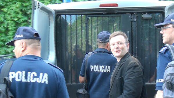 Mateusz Piskorski przed Sądem Apelacyjnym w Warszawie, 08.06.2017 r. - Sputnik Polska