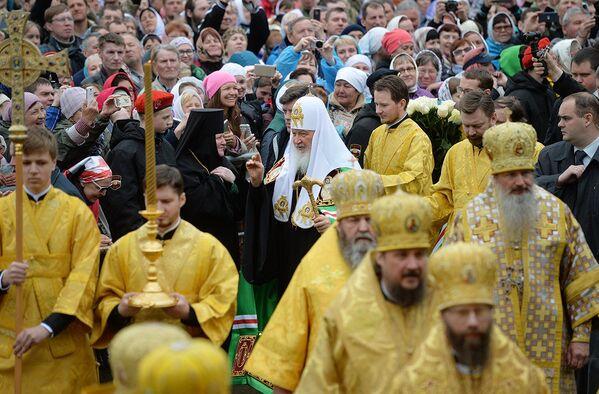 Po raz pierwszy w procesji wziął udział patriarcha Moskiewski i całej Rusi. - Sputnik Polska