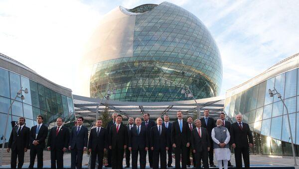 Liderzy SOW na otwarciu EXPO-2017 w Astanie, Kazachstan - Sputnik Polska