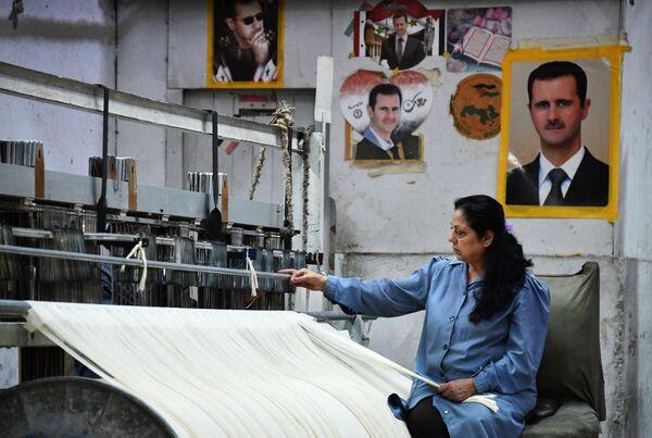 Państwowy zakład produkujący tekstylia na południowych przedmieściach Damaszku. - Sputnik Polska
