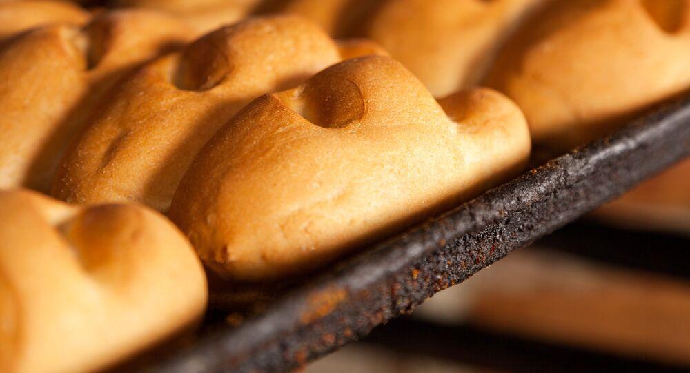 Chleb w piekarni