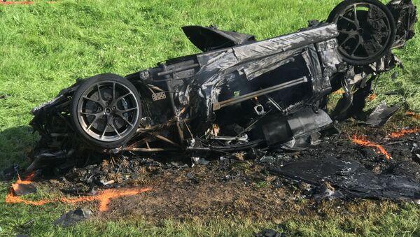 """Były prezenter programu motoryzacyjnego """"Top Gear, Richard Hammond, miał wypadek samochodowy w Szwajcarii podczas kręcenia nowego programu - Sputnik Polska"""