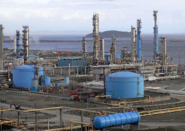 Zakład przetwórczy gazu w Norwegii
