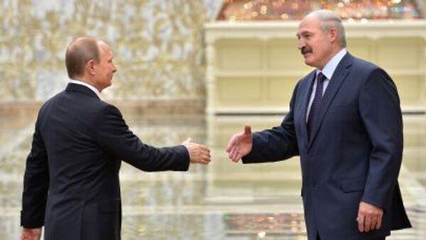 Prezydent Rosji Władimir Putin i prezydent Białorusi Alaksandr Łukaszenka w Mińsku - Sputnik Polska