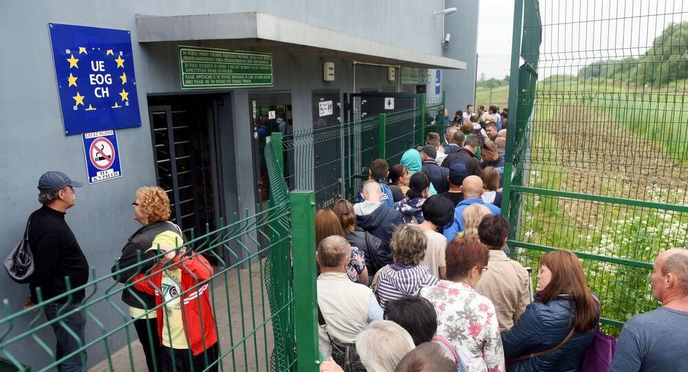 Ukraińcy na polsko-ukraińskiej granicy