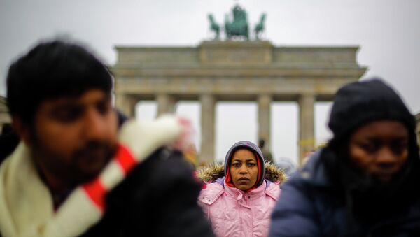 Uchodźcy w Berlinie - Sputnik Polska