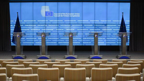 Sala posiedzeń w siedzibie Komisji Europejskiej w Brukseli - Sputnik Polska