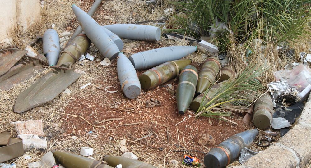 Pociski znalezione na podwórzu jednego z domów w al-Bahsa