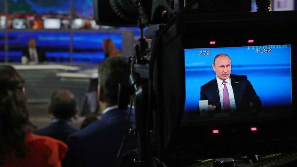 Gorąca linia z Władimirem Putinem 2017 - Sputnik Polska