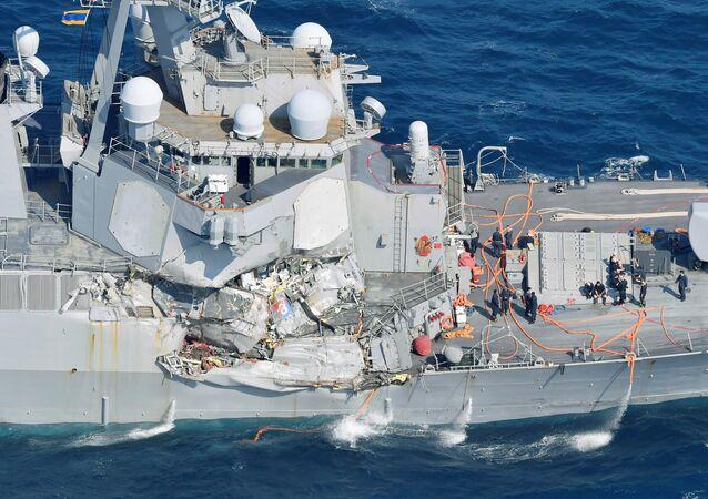 Amerykański niszczyciel USS Fitzgerald