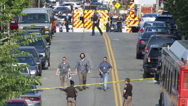 Scalise został ranny w wyniku ataku napastnika, który otworzył ogień podczas treningu baseballowego w Alexandrii w stanie Wirginia - Sputnik Polska