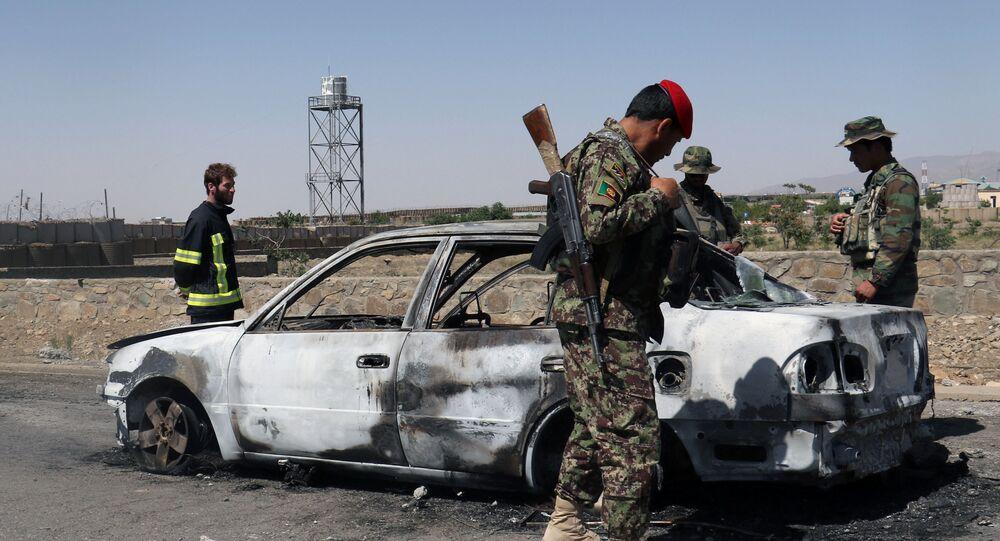 Atak zamachowców samobójców na komendę policji w mieście Gardez w prowincji Paktia na wschodzie Afganistanu