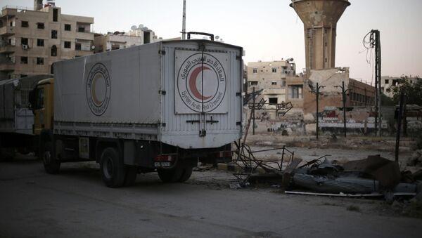 Atak na konwój humanitarny w syryjskiej Haraście - Sputnik Polska