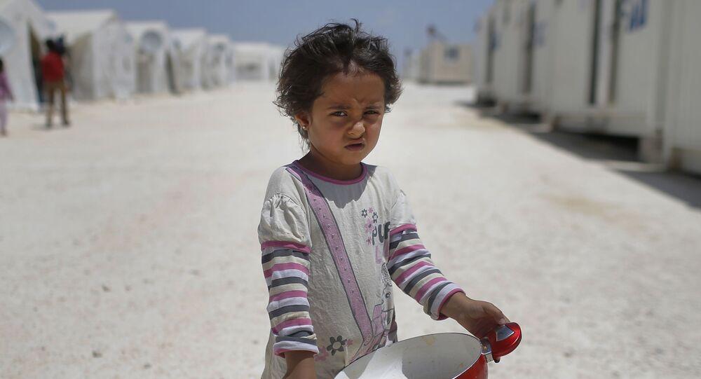 Obóz dla uchodźców na syryjsko-tureckiej granicy