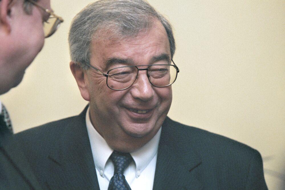 Prezes partii Otieczestwo [Ojczyzna] Jewgienij Primakow