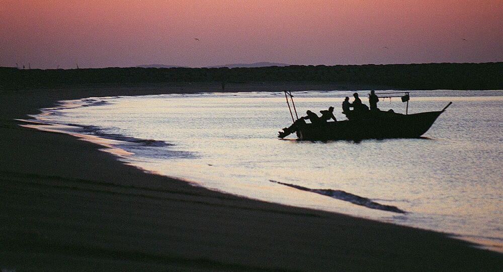 Irańscy rybacy. Zdjęcie archiwalne