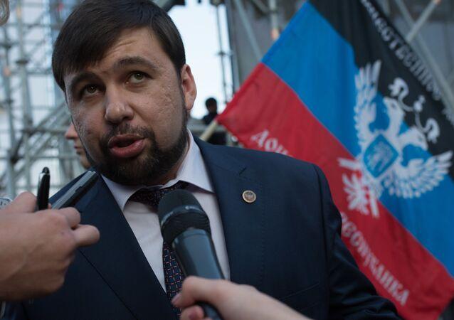 Stały przedstawiciel proklamowanej w trybie jednostronnym DRL w trójstronnej grupie kontaktowej ds. kryzysu na Ukrainie Denis Puszylin