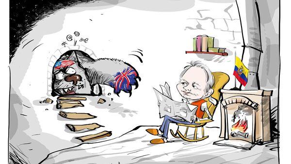 Minęło 5 lat, od kiedy Julian Assange schronił się w ambasadzie Ekwadoru w Londynie - Sputnik Polska