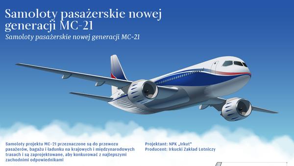 Samolot pasażerski średniego zasięgu MC-21 - Sputnik Polska