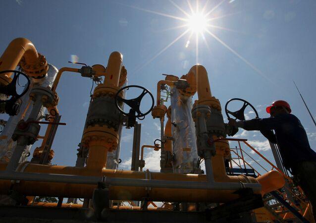Stacja dystrybucji gazu spółki Gazprom
