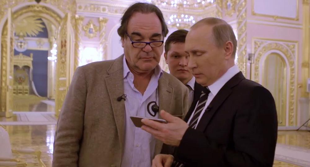 Kadr z filmu Oliviera Stone'a