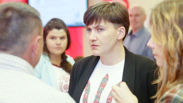 Deputowana Rady Najwyższej Ukrainy Nadija Sawczenko - Sputnik Polska