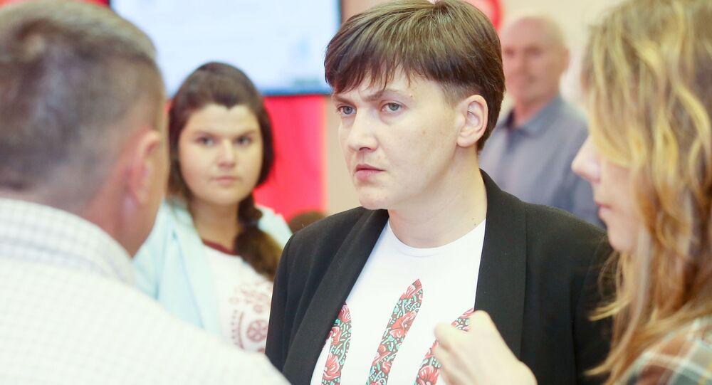 Deputowana Rady Najwyższej Ukrainy Nadija Sawczenko