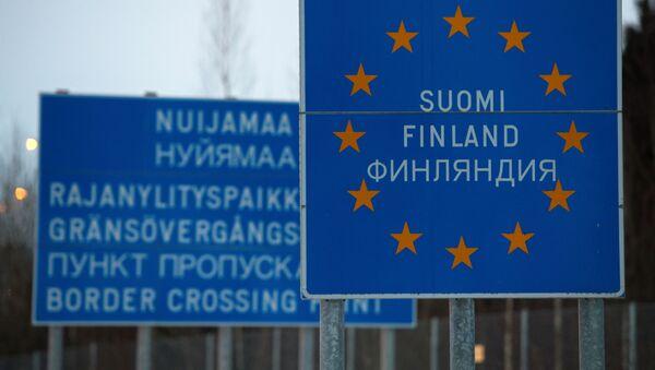 Granica Rosji i Finlandii w okolicach przejścia granicznego Nyamaa - Sputnik Polska