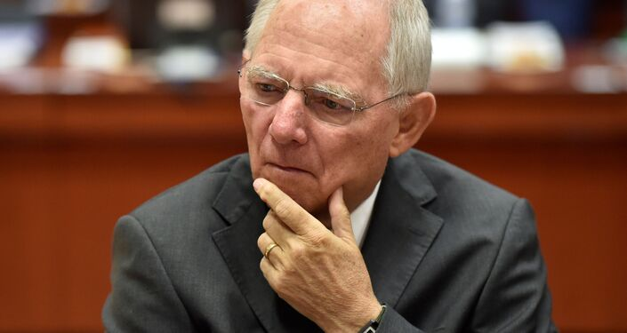 Minister finansów Niemiec Wolfgang Schäuble