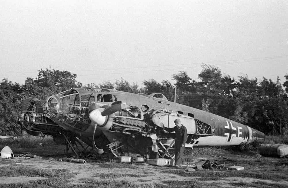Jeden z pierwszych niemieckich samolotów zestrzelony koło Odessy