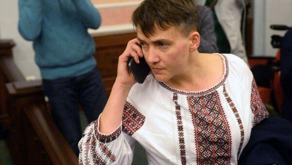 Deputowana ludowa Nadija Sawczenko na posiedzeniu Rady Najwyższej - Sputnik Polska