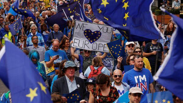 Demonstracja zwolenników Unii Europejskiej w Londynie - Sputnik Polska
