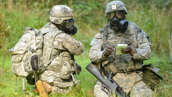 Amerykańscy żołnierze w czasie ćwiczeń NATO w Europie - Sputnik Polska