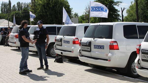 Misja OBWE w obwodzie donieckim - Sputnik Polska