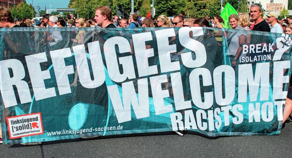 Akcja zwolenników przyjęcia uchodźców