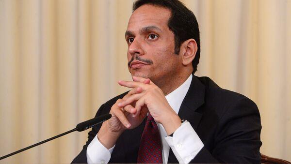 Minister spraw zagranicznych Kataru Muhammad ibn Abd ar-Rahman as-Sani - Sputnik Polska