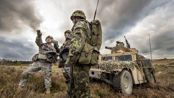 Wspólne ćwiczenia amerykańskich i estońskich żołnierzy w Polsce. Zdjęcie archiwalne - Sputnik Polska