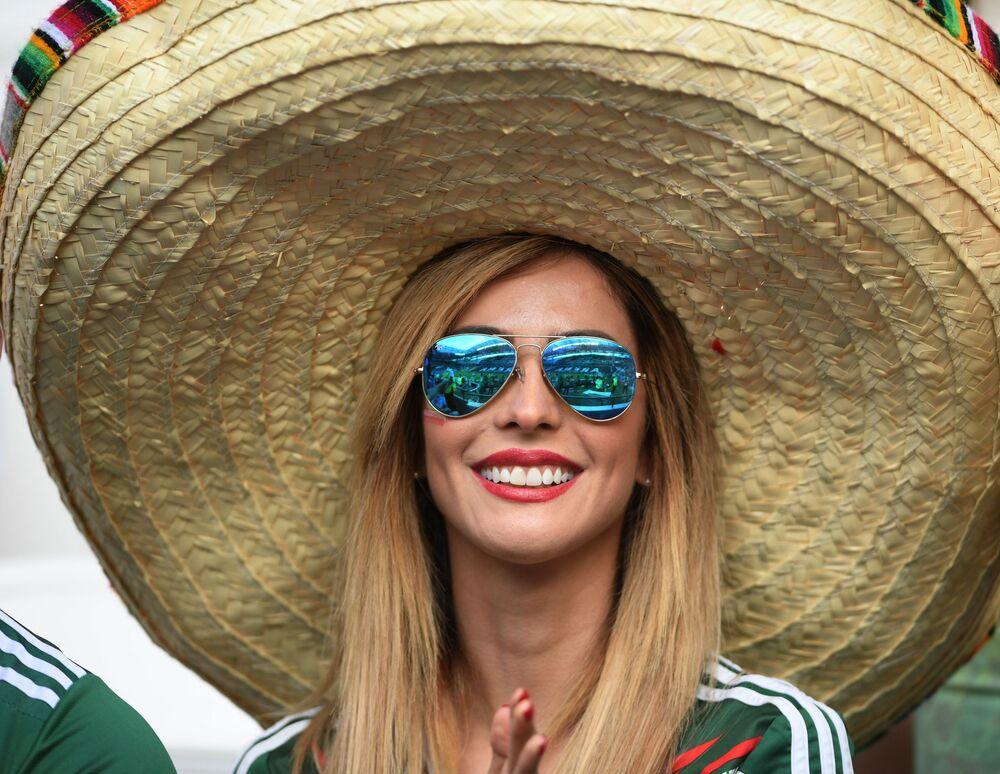 Fanka podczas meczu Pucharu Konfederacji 2017 między reprezentacjami Portugalii i Meksyku