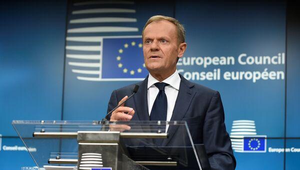 Przewodniczący Rady Europejskiej Donald Tusk w Brukseli - Sputnik Polska