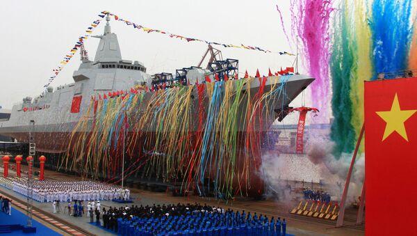 Zwodowanie chińskiego niszczyciela - Sputnik Polska
