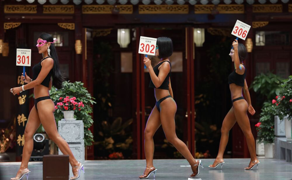 Uczestniczki konkursu Women's Beautiful Buttock series w Chinach