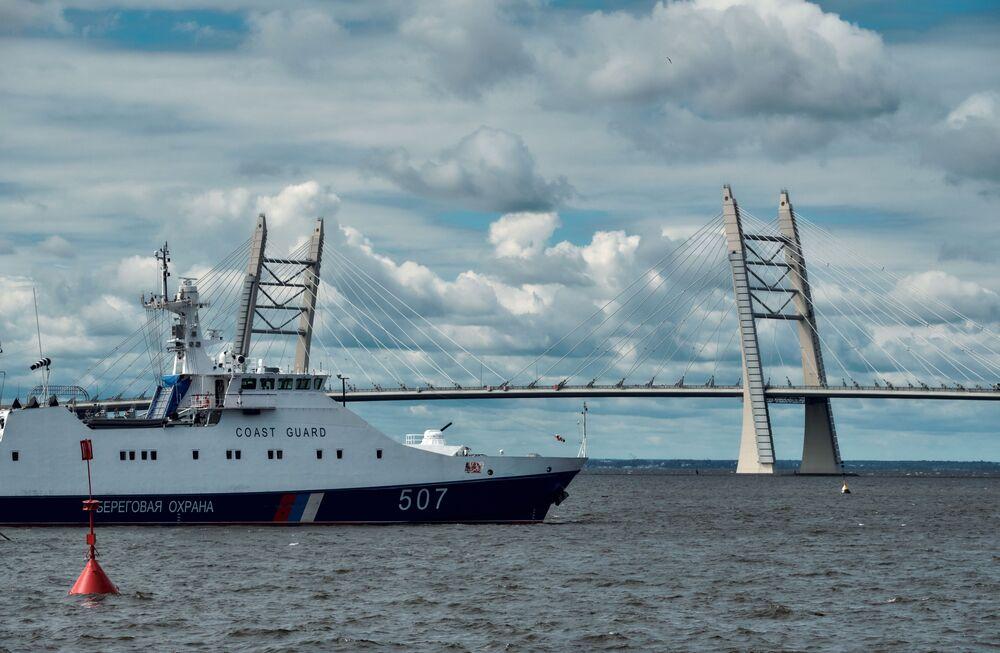 Okręt patrolowy na Międzynarodowym Salonie Morskiej Techniki Wojskowej w Sankt Petersburgu