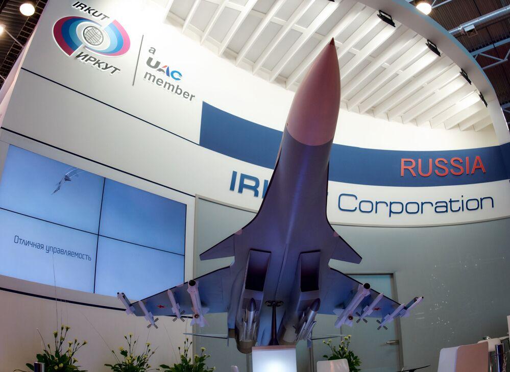 """Stoisko korporacji """"Irkut"""" na Międzynarodowym Salonie Morskiej Techniki Wojskowej w Sankt Petersburgu"""
