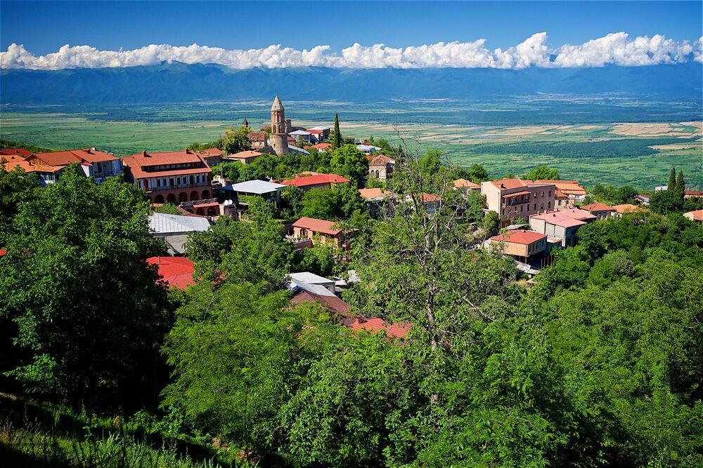 Miasto Sighnaghi w Kachetii, Gruzja