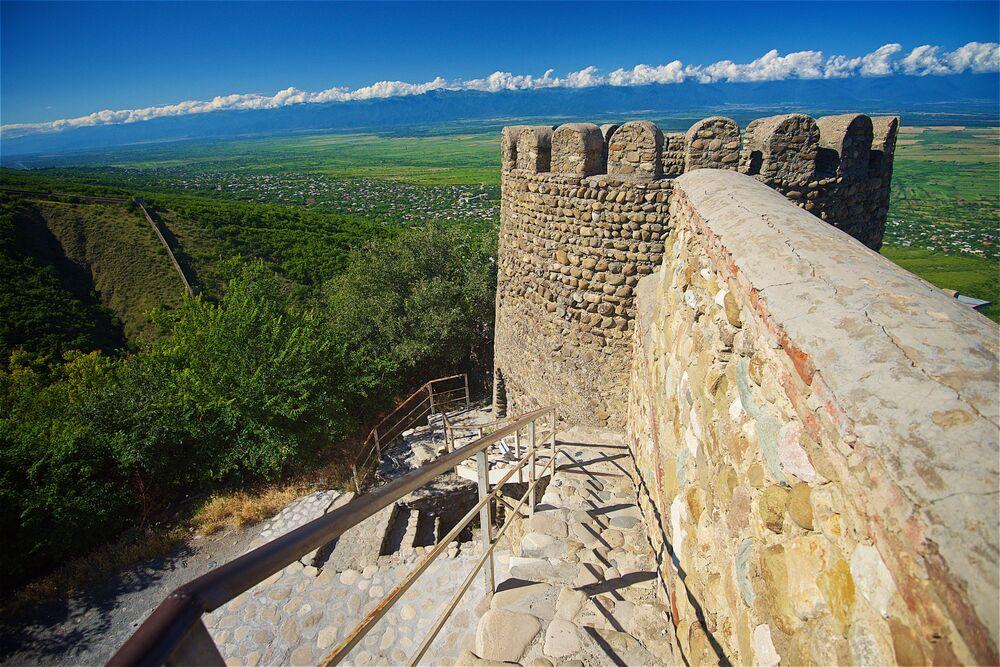 Mur obronny w pobliżu miasta Sighnaghi